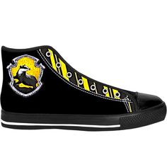 9b13e4373579 Harry Potter Apparel  Hufflepuff High Top Sneakers