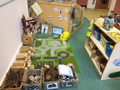 Construction area with natural resources at Warrington nursery