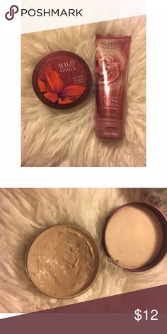 Bath and Body Works Lotion Lot Two body butters/lotions from Bath and Body. Both great vanilla scents! bath and body works Makeup