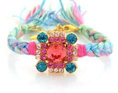Braided bracelet with Swarovski