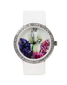Glam Floral Round Watch