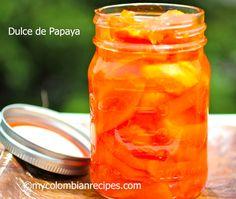 Dulce de Papaya (Fresh Papaya in Syrup)