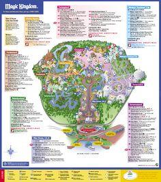 Disneys Magic Kingdom Map   Disney039s Magic Kingdom Orlando FL USA U2022  Mappery