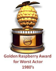 Golden Raspberry Award for Worst Actor 1980s - 1980  Neil Diamond in The Jazz Singer,  1981  Klinton Spilsbury in The Legend of the Lone Ranger, 1982  Laurence Olivier in Inchon, 1983  Christopher Atkins in A Night in Heaven, 1984 Sylvester Stallone in Rhinestone, 1985 Sylvester Stallone in Rambo: First Blood Part II, 1986 Prince in Under the Cherry Moon, 1987  Bill Cosby in Leonard Part 6,1988  Sylvester Stallone in Rambo III, and 1989  William Shatner in Star The IV: The Final Frontier