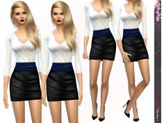 The Sims Resource: Suit Up! Outfit by Simismay • Sims 4 Downloads