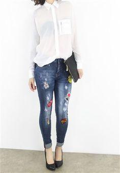 regular parches Patuspies varios Jeans Tiro wgdTqgt