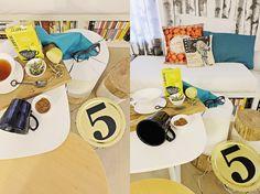 i diari dell'appartamento - tavolino diy = telaio di paralume + vassoio di cartone