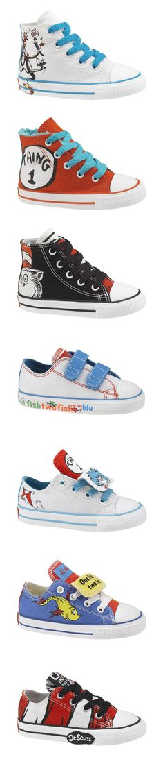 Dr. Seuss Converse... Shoes both you & your toddler can get excited about!