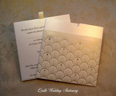 Luxury Wallet Wedding Invitation in Ivory by QuillsWeddingFavours www.quillsweddingstationery.co.uk https://www.facebook.com/pages/Quills-Wedding-Stationery/278003989009997