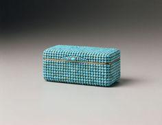 CARL HELFRIED BARBÉ Box, ca. 1810 Gold, Turquoise 3 9/10 × 1 9/10 in 9 4/5 × 4 9/10 cm