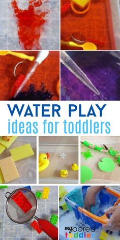 easy water table and water play activity ideas for babies, toddlers and preschoolers - easy outdoor and summer fun water activities that you can easily do with your 1,2 or 3 year old.