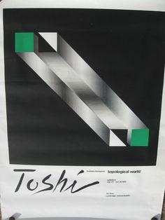 TOSHIHIRO KATAYAMA TOPOLOGICAL WORLD HARVARD CAMBRIDGE EXHIBIT POSTER 1975 | eBay