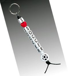 I-Love-Soccer Bead Key Chain -- easy enough to make