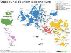 Visualising the tourism economy around the world - These 2 maps show which…
