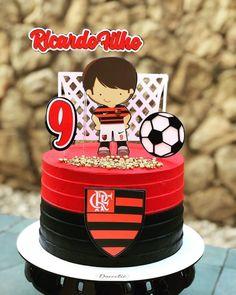 Bolo do Flamengo: 100 modelos mais tutoriais para comemorar seu time Happy Birthday Colleague, Birthday Parties, Birthday Cake, Mickey Party, Cupcakes, Sleepover, No Bake Cake, Party Time, Cake Toppers