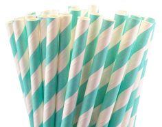 25 pailles en papier à rayures bleu tiffany mariage par FlagsandCo, €2.40 PHOTOBOOTH PROPS