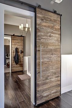 #foyer #hallway | do #barndoors increase the value of your home? | @meccinteriors | design bites