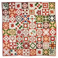 Friendship Sampler Quilt - Presented by Lydia H Rounsavell April 5th, 1846.
