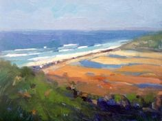 """From the Lodge, Torrey Pines by Catherine Grawin Oil ~ 8"""" x 10"""""""