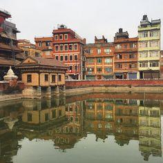 Riflessi nel cuore di #Patan #nepalroutes questo è Pimbhal lo stagno formatosi in una notte secondo la leggenda. #visitnepal www.nepalroutes.com