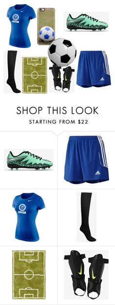 """Soccer"" by briannacarlyle on Polyvore featuring NIKE, adidas, Maison Margiela, Surya and Casetify"