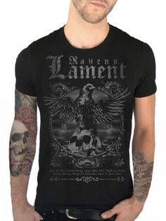 "Men's ""Ravens Lament"" Tee by Serpentine Clothing (Black)"