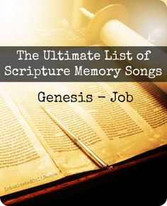 List of Scripture Memory Songs Genesis Through Revelation actually. There are seven sections covered, over 1,400 songs