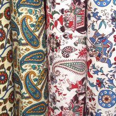 Beautiful block print fabrics from India, available from Garoo Trading Company - www.garootradingcompany.com