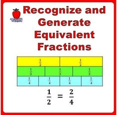 Fractions Worksheets Grade 3, Grade 4 - Recognize and Generate Simple ...