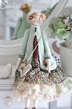 Купить Милла и Джилиан - тильда, кукла, кукла ручной работы, кукла интерьерная, подарок, для уюта ♡