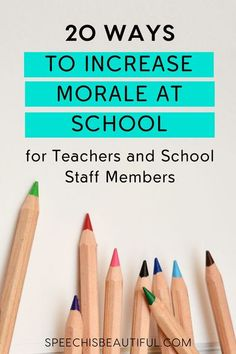 Do the teachers and speech pathologists feel valued in your school? Working in a tough school environment can take a toll on teachers, speech therapists, and staff. In this post, I'm sharing 20 Ways to Increase Morale of the staff at Your School - Speech is Beautiful