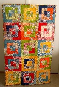 front of recess quilt by mostlyglasses, via Flickr made with a jelly roll