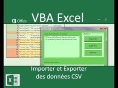 Importer et exporter des données en VBA Excel Microsoft Excel, Microsoft Windows, Raccourci Windows, Vba Excel, Excel Macros, Youtube Comments, Data Science, Geek, Architecture