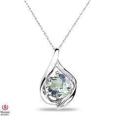 Ebay NissoniJewelry presents - Ladies Green Amethyst Pendant and chain in 10k White Gold    Model Number:CP-4253W0GAM    http://www.ebay.com/itm/Ladies-Green-Amethyst-Pendant-and-chain-in-10k-White-Gold/221630382868
