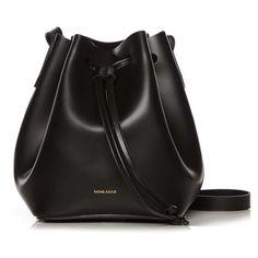 Rachael Ruddick Beach Bucket Bag (5 080 ZAR) ❤ liked on Polyvore featuring bags, handbags, shoulder bags, purses, accessories, bolsas, sac, black, leather purse and black leather shoulder handbags