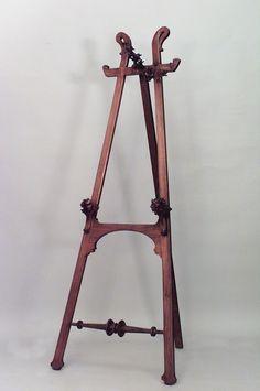 Art Nouveau Art Nouveau misc. furniture easel stand walnut