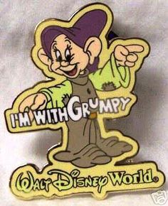 grumpy and dopey collector pin