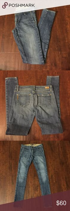 "Authentic PAIGE Debonair Skinny Jeans Authentic Paige Jeans  ☀️98%Cotton 2%Spandex  ☀️Made in USA  🕊I accept reasonable offers!! I truly do! With  the exception of items labeled ""Price Firm""  🕊Serious buyers please & No Low ballers! Asking for half or more off an item is Low Balling.   🕊Please understand the sizes listed on the size chart are different between manufacturers & suppliers & this chart should only be used as an approximate guide. Paige Jeans Pants Skinny"