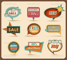 Buy The new retro speech bubbles/signs collection. by BlinkBlink on GraphicRiver. Useful retro design elements: promotional speech bubbles, signs… Vector Illustration. High Quality objects for your l. Pink Lady, Free Vector Images, Vector Art, Retro Design, Logo Design, Graphic Design, Free Design, Retro Font, Retro Signage