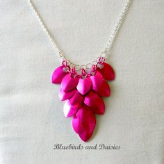 Hot Pink Scale Necklace - The Supermums Craft Fair