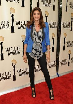 Smythe fan Cindy Crawford in one of their color block blazers. Smythe: Now Available at Perch!
