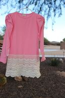 Girls Pink Lace Dress from Avry Couture Creations Sizes 12m-5T