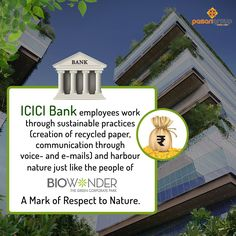 Employees share the zest to #nurture nature while they work at Biowonder or ICICI Bank – The former has #NATURE TALKING WITH #ARCHITECTURE while the latter is GOING GREEN.  #Biowonder #PasariGroup #Kolkata #Biophilic #GoGreen #ICICIBank #Corporate #Banks #Architecture #Employees #EnvironmentFriendly #Electricity #Nature #Green #CorporatePark #Work #WorkSpace