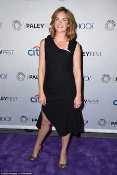 Star turn: Ruth Wilson arrived for a Q&A session at Paleyfest New York on Monday night...