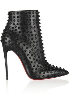CHRISTIAN LOUBOUTIN Snakilta 120 studded leather ankle boots $1,975