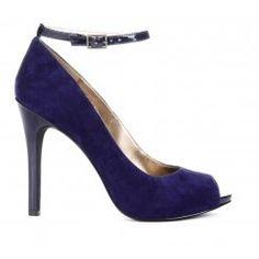 Midnight blue peep toe - looks purple on my computer...but I like the style