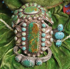 Greg Thorne Turquoise love the center bracelet