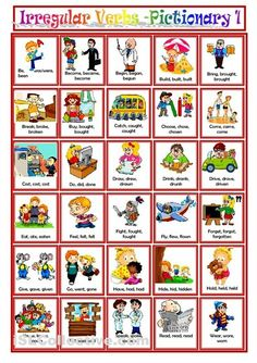 English Vocabulary - All About Irregular Verbs
