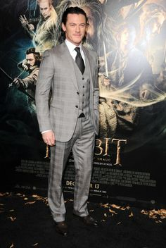"""Luke Evans at the Los Angeles premiere of """"The Hobbit: The Desolation Of Smaug."""" Styling by Jeanne Yang."""