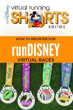 rundisney virtual medals are here: register today to runDisney at home! Disney Races, Run Disney, Disney Tips, Running Workouts, Running Tips, Running Challenge, Running Shorts, Disney Vacation Planning, Disney Vacations